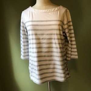 Anthropologie Maeve Striped Top with Buttons